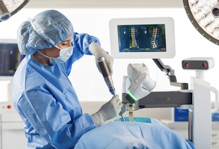 Операция на позвоночнике роботом Mazor X