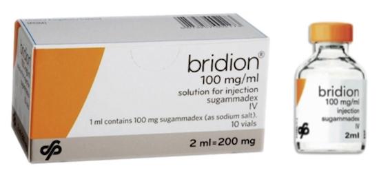Купить Брайдан, продам Сугаммадекс, цена Bridion, инструкция Sugammadex