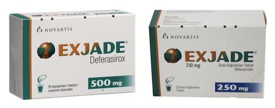 Купить Эксиджад, продам Деферазирокс, цена Exjade, купить Deferasirox