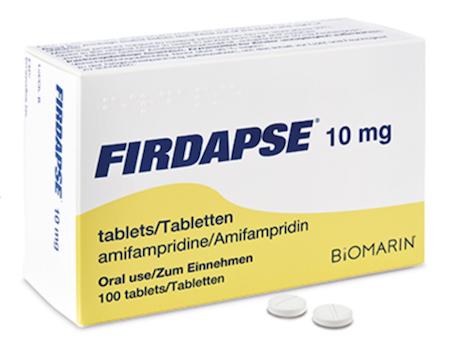 Купить Фирдапс, продам Амифемпридин, цена Firdapse, купить Amifampridine