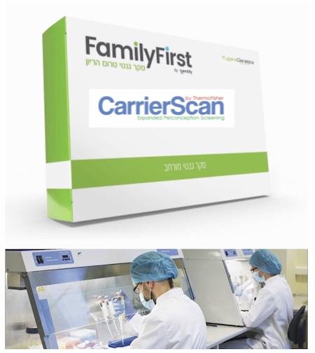 Генетические тесты FamilyFirst или CarrierScan в Израиле